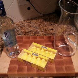 Peeps(R)-Infused Vodka Recipe - Yellow marshmallow chicks are soaked in vodka creating a festive yellow cocktail starter. Serve with your favorite mixer!