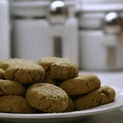Peanut Butter Cookies III Recipe - You can also top these with a pecan half before baking.