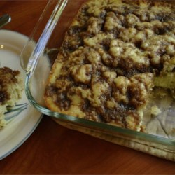 Coffee cake with topping mixed in