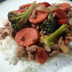 Sweet and Sour Ground Pork Stir-Fry Recipe - An easy alternative to traditional sweet and sour pork dishes. Serve over rice.