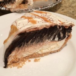 Mom's Secret Chocolate Pie Recipe Recipe - This easy family-pleasing chocolate pie uses a prepared graham cracker pie crust, instant pudding mix, cream cheese, and whipped topping.
