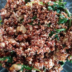Kale and Quinoa with Creole Seasoning Recipe - Creole seasoning adds a spicy kick to this quick green and grain side dish that's ready in just 30 minutes.