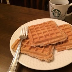 Vegan Waffles Recipe - Finally, vegan waffles that everybody enjoys! Made with oats, soy milk, and agave nectar, these waffles are a delight in the morning.