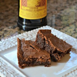 Kahlua Mocha Brownies Recipe - The addition of Kahlua in the brownie batter and the buttercream frosting provide mocha notes to these moist brownies.