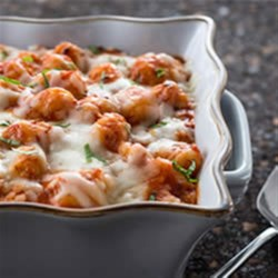 Cheesy Baked Gnocchi Recipe - A simple, hearty dish with the creamy cheesiness of PHILADELPHIA. No need to cook the gnocchi first, just mix and bake.