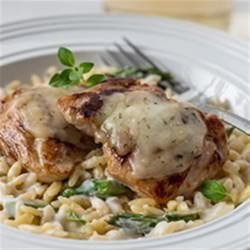 Creamy Orzo and Chicken