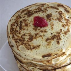 Yeast Pancakes from Transylvania Recipe - Change up traditional pancakes by making them with yeast instead of baking soda using this Transylvanian yeast pancakes recipe; it's worth the extra time!