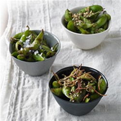 Wok Charred Edamame 3 Ways Recipe - Crave restaurant-style edamame? Soybean oil's high smoke point creates wok-charred edamame in a snap.Try all three variations!