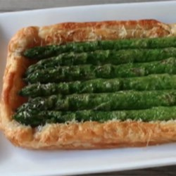 Chef John's Asparagus Tart Recipe and Video - Make Chef John's asparagus tart this spring or summer to delight your friends with this appetizing crowd-pleaser.