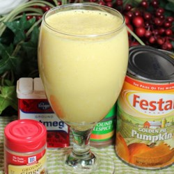 Pumpkin Shake Recipe - Use canned pumpkin puree, frozen banana, and Greek-style yogurt to make this quick breakfast smoothie.