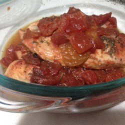 Juicy Slow Cooker Chicken Breast For Any Diet Recipe - Chicken simmered in diced tomatoes in the slow cooker all day creates a juicy and tender chicken dinner for any diet.