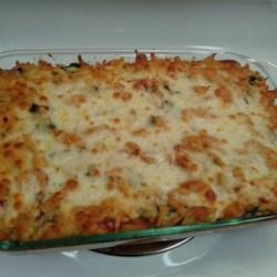Cheryl's Spinach Cheesy Pasta Casserole