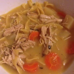 Cold-Busting Ginger Chicken Noodle Soup Recipe - Plenty of ginger and kohlrabi are spicy additions to a classic soup.