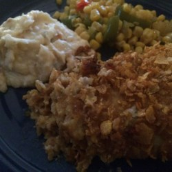 Baked Ranch Chicken Recipe - This is a simple recipe for baked chicken breasts coated in ranch dressing and bread crumbs.