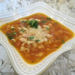 Pasta e Fagioli ala Weeble Recipe - Pasta, beans, and a thick broth - a perfect description for Pasta e Fagiole. Weeble's version evokes memories of Toronto's Little Italy.