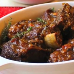 Sherry Braised Beef Short Ribs  Recipe - Chef John's sherry-braised beef short ribs are a foolproof and delicious addition to your dinner menu.