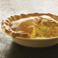 Indian Samosa Pie Recipe - This recipe uses the flavors of a samosa and the idea of a pot pie to make a savory, Indian-accented dish in a comfort-food format.