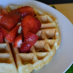 Tender and Easy Buttermilk Waffles Recipe - These easy buttermilk waffles are crisp on the outside, tender in the middle, and are a crowd-pleasing weekend breakfast.