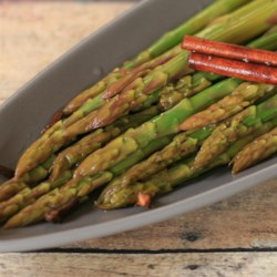 Sweet and Sour Asparagus Recipe - Asparagus spears are marinated in a tangy blend of vinegar, sugar, cinnamon, cloves, and celery seed.