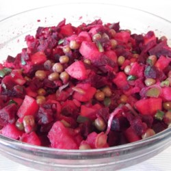 Ukrainian Salat Vinaigrette (Beet Salad) Recipe and Video - The mild flavor of the beets really shines in this lightly seasoned salad.
