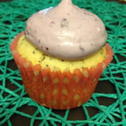 Lemon Poppyseed Cupcakes with Lemon Curd Filling and Blueberry Frosting