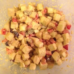 Curried Tofu Salad Recipe - A great vegetarian alternative to tuna or chicken salad.