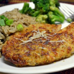 Parmesan Crusted Tilapia Fillets Recipe and Video - This version of Parmesan-crusted tilapia uses only a few ingredients for a quick and easy dinner entree.