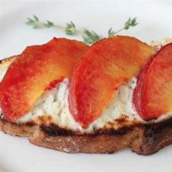Peach and Goat Cheese Tartine Recipe - Taste summer on a slice of bread with Chef John's recipe for peach and goat cheese tartine.