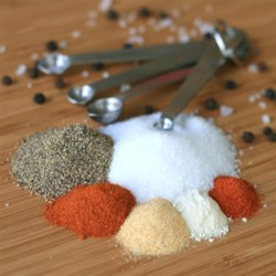 Homemade Seasoned Salt Recipe - Keep this simple homemade seasoned salt mixture on hand for easy seasoning of meats or vegetables for the grill.