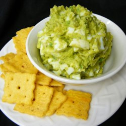 Egg Salad with Avocado Recipe - Egg salad made with mashed avocado instead of mayonnaise is a creamy and colorful version of egg salad and can fit into a paleo-type diet.
