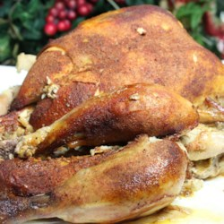 Whole Chicken Slow Cooker Recipe Recipe - Quickly make a seasoning rub featuring cayenne pepper, paprika, and thyme. Then just season chicken and marinate overnight, and cook in the slow cooker for an easy and tasty meal.