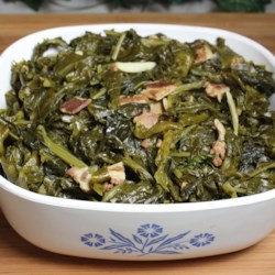 Perfect Mixed Greens Recipe - Savory-sweet and delicious mixed greens will make a perfect side dish for any main dish, especially a Southern-style dish like fried chicken or smoked pork chops.