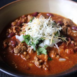 Emily's Chipotle Chili Recipe - The chipotle peppers give this slow cooker chili a subtle, smoky flavor.