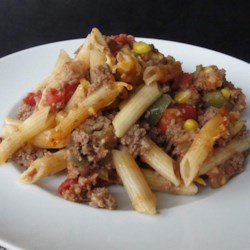 Sloppy Joe Casserole Recipe - All the components of sloppy joes are mixed with penne pasta and Colby-Jack cheese creating a comfort food casserole for cold days.