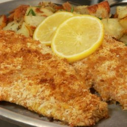 Crispy Baked Walleye Recipe - Parmesan cheese makes these baked fillets even more savory.