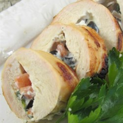 Greek Cream Cheese-Stuffed Chicken