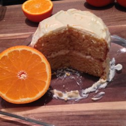 Marie-Claude's Orange Cake Recipe - This cake is the one my mother is preparing like a chef! It is really simple but excellent. You cannot fail it. Good luck and degustez avec bon! (The cake will look dark orange so if you use black decoration on it, it is a perfect Halloween dessert).