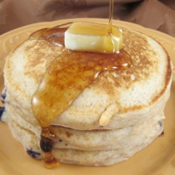 Good, Bad, and Yummy Pancakes Recipe - These cinnamon-accented pancakes use a mixture of all-purpose and whole wheat flour.