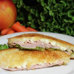 Turkey and Feta Grilled Sandwich Recipe - Simply put, this recipe delivers a grilled cheese sandwich made with feta cheese, turkey, lettuce, and Italian salad dressing.
