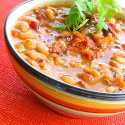 South Texas Borracho Beans Recipe - Drunken or 'Borracho' pinto beans are a southwestern tradition. This recipe uses one of Texas' favorite beers, Shiner Bock(R), to deliver the goods.