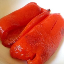 "Easy Roasted Peppers Recipe and Video - ""This is a really basic way to roast peppers for use in any recipe. Choose any color peppers you like, or use a variety of colors for a beautiful presentation.  After they are roasted you can add an oil and balsamic dressing, or fry in olive oil and garlic to serve with crusty bread."""