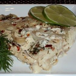 Spicy Lime and Dill Grilled Fish Recipe - This recipe for grilling fish with dill and lemon juice in a foil packet is a tidy way to cook fish on the grill without the mess.