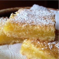 Chef John's Lemon Bars Recipe and Video - An intensely flavored layer of lemon custard atop a crisp, sweet shortbread crust makes these favorite cookies almost like little slices of lemon pie.