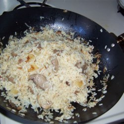 Chickeny Chickeny Rice Recipe - Rice sauteed with onion and butter and then baked in chicken bouillon stock.  A new twist on cooking rice!