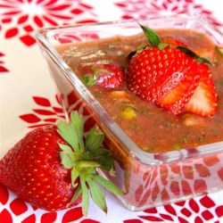 Strawberry Gazpacho Recipe - A big bowl of chilled sweet and slightly spicy gazpacho made with strawberries, fresh garden veggies, and avocado would be just the thing for a light meal on a hot summer day.