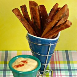 SPAM(R) Fries with Spicy Garlic Sriracha Dipping Sauce Recipe - Everyone's favorite luncheon meat, SPAM(R), is transformed into delicious fries with a spicy garlic sriracha sauce!