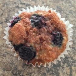 Blueberry Oatmeal Chia Seed Muffins Recipe - Blueberry oatmeal muffins flecked with chia seeds are perfect for lunch boxes or served at a weekend brunch.
