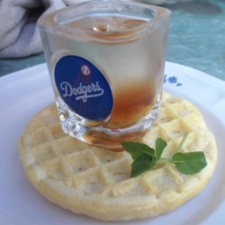 Warsaw Waffle Recipe - A shot of vodka is infused with a liberal dose of maple syrup. It started as a drunken joke, then it spread like wildfire!