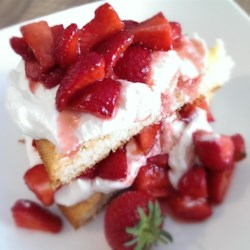 Cottage Pudding (Cake for Strawberry Shortcake) Recipe - This moist and sweet cake is perfect for making homemade strawberry shortcakes. It's also great just by itself too!
