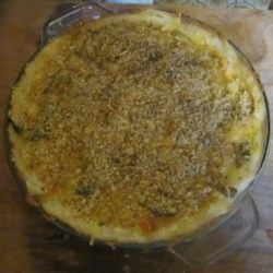Potato Crust Quiche Recipe - Make a cheesy vegetable quiche with a crust of mashed potatoes for extra heartiness.